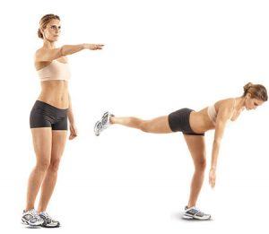 single leg dead lift butt exercises